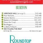 Spring 2018 Round Top Antiques Shows open in the Burton, Texas area. By date.