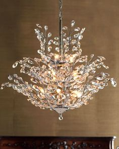 Bedroom Chandelier #PinItTransformIt I love chandeliers they can transform a room's look simply by its light & design & perfect to stir romance