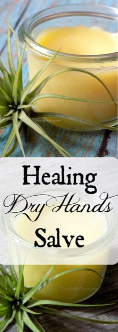 This healing dry skin salve is a 7 years-tested recipe for repairing gardener's hands, scrapes, cracked, over-washed skin, and soothing bug bites. #homemadegift #Christmasgift #naturalbeauty