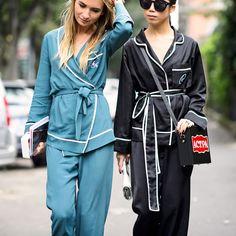 pajama trend street style