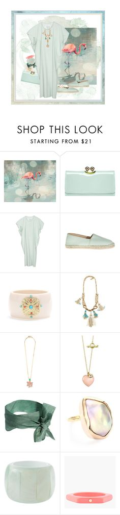 """American Flamingo"" by halebugg ❤ liked on Polyvore featuring Ted Baker, Maison Margiela, Lika Mimika, CZ by Kenneth Jay Lane, Radà, Finn, Orelia, Melissa Joy Manning, ASOS and Marc by Marc Jacobs"
