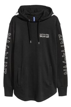Long hooded top - Black - Men | H&M GB 2
