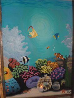 Underwater Sea Life Mural by Jayme Lord, via Behance