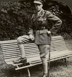 The Prince of Wales in military uniform, France, World War I, 1914-1918.Artist: Realistic Travels Publishers