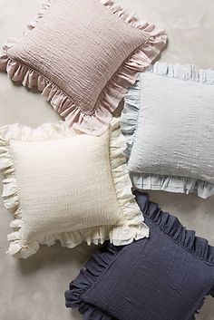 Find the bedding of your dreams at Anthropologie. Shop unique bohemian bedding, textured and feminine styles. Baby Pillows, Throw Pillows, Cushion Cover Designs, Bohemian Bedding, Diy Cushion, My New Room, Dorm Decorations, Soft Furnishings, Pillow Design
