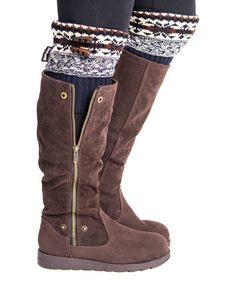 Look what I found on #zulily! Dark Sapphire Lodge Boot Topper - Women #zulilyfinds