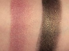 laura mercier luster eye colour african violet swatch L-R On skin, over a creamy black base.