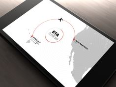 Hawaiian Airlines Flight Path Motion Graphic | Full app design viewable here:  http://vimeo.com/87409820 #UI