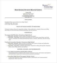 Teenage Resume Examples A Teenage Resume Examples  Pinterest  Free Resume Samples Sample .