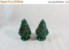 On Sale Vintage Lefton Japan Holly Berry Christmas by GRCTreasures