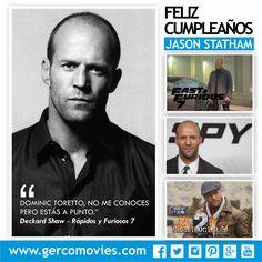 ¡Hombre de acción! #JasonStatham está de cumpleaños. Felicitaciones!