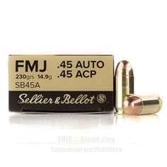 Sellier and Bellot 45 Auto Ammo - 1000 Rounds of 230 Grain FMJ Ammunition #45ACP #45ACPAmmo #SellierandBellot #SellierandBellotAmmo #SellierandBellot45ACP #FMJ