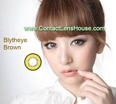 Blytheye Brown[Yellowish in nature] color circle lens. Korean cosmetic lenses.  We Ship Worldwide | Shop @ ContactLensHouse.com