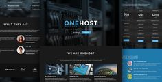 Onehost - One Page WordPress Hosting Theme + WHMCS . Onehost is an Elegant WordPress Premium Theme, It?s fully compatible with WHMCS-Bridge plugin which connect between WordPress and WHMCS, Onehost is suitable for Hosting websites aswell as Company, Agency or