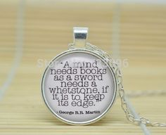 10pcs Tyron Lannister 'A Mind Needs Books' Quote Necklace, Game of Thrones Jewelry Glass Cabochon Necklace  //Price: $US $9.90 & FREE Shipping //     #gameofthrones #gameofthronestour #gameofthronesfamily  #starks