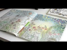 Colouring Secret Garden, The Morning Garden part 5 - YouTube