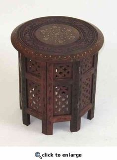 Home Decor _ Octagonal Carved Wooden Coffee Table Furniture $69