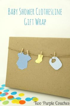 So adorable! Love this idea for wrapping a baby shower gift!