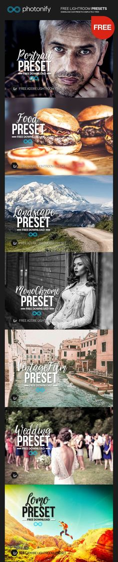 Welcome to our Free Lightroom Presets page! Each week we like to give away a free item from one of our collections so you can try them out. Photography Filters, Photoshop Photography, Photography Tutorials, Lightroom Effects, Lightroom Presets, Foto Editing, Editing Photos, Wedding Presets, Photo Action