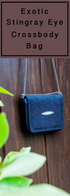 Sharon Navy Blue Stingray Eye Crossbody Bag