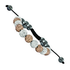 Champagne & White Crystal & Hematite Bracelet from First Class Jewelry for $84 on Square Market