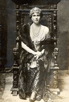 HRH Princess Victoria Eugenie of Battenberg, daughter of Princess Beatrice (youngest daughter of Queen Victoria).  Married King Alfonso XIII of Spain; grandmother of King Juan Carlos I of Spain.