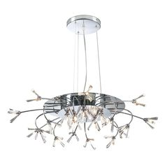 21 Light Chandelier Seville Collection shown in Polished Chrome by PLC Lighting - 21136