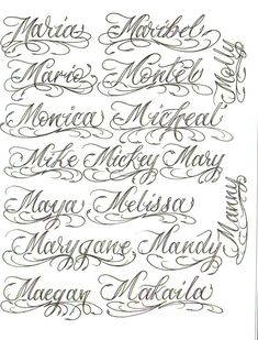 Tattoo Lettering Design, Chicano Lettering, Calligraphy Tattoo, Calligraphy Signs, Graffiti Lettering, Pencil Calligraphy, Font Tattoo, Tattoo Fonts Alphabet, Hand Lettering Alphabet
