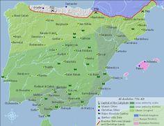 Al-Andalus 756 AD (Islamic Caliphate in Spain)