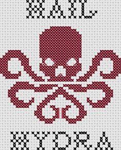 Hail Hydra by CrosStitchEtc on Etsy