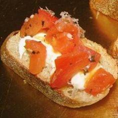 Art Carries Bruschetta Appetizer food-and-drink