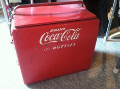 1950s Vintage Authentic Coca Cola Galvanized by offthewallelegance, $285.00