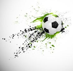 """Fotomural """"soccer, grunge, ball - futebol projeto ✓ Vasta gama de materiais ✓ Impressão 100% ecológica ✓ Confira a opinião dos nossos clientes!"""