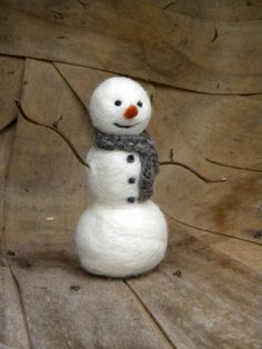 another sweet needle felted snowman