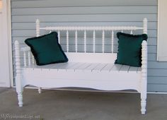 Another headboard bench....I am obsessed. Might have to take a vacation day for throw out day lol!