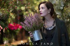 Visiting La Boutique de Fleurs, wearing Murmur corset, Anda Roman necklace, Barbara Sabbah coat.