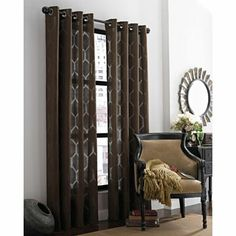 Merveilleux Queen Street Hamilton Grommet Top Curtain Panel Found At. Find This Pin And  More On Home Office Ideas ...