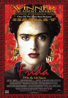 """Vi apenas hoje (29/02/16) o filme de Frida e me apaixonei por ela, pela sua historia e garra.     """"Frida"""" starring Selma Hayek and Alfred Molina. Directed by Julie Taymor. 2002."""