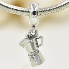 Caffettiera Un Amore di Caffè bead charm 100% argento sterling 925 si adatta misure Pandora charm Pandora bead Braccialetto europeo YB0615 di OceanBijoux su Etsy