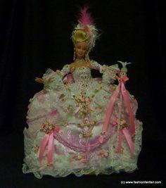 Lavish Marie Antoinette OOAK Barbie Beautiful Pink 1700's Baroque Rococo by FFF #Mattel #OOAKBarbie