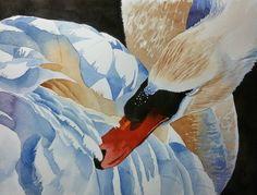 Original Watercolor Painting, Original Watercolor Artwork, Watercolor Swan, Perfect Gift