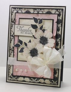 Stunning card by Narelle Farrugia Flower Shop, Summer Silhouettes, Simply Sketched, Modern Medley dsp