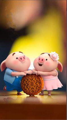 Pig Wallpaper, Cute Baby Wallpaper, Disney Wallpaper, This Little Piggy, Little Pigs, Cute Piglets, Wonder Art, Pig Illustration, Funny Pigs