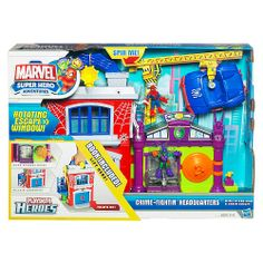 """MASON - Playskool Marvel Super Hero Adventures Playset - Crime Fightin' Headquarters - Hasbro - Toys """"R"""" Us $14.99"""