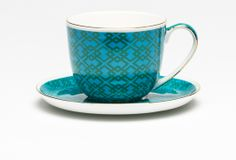 Madrid Cup & Saucer Blue & Green Large | T2 Tea