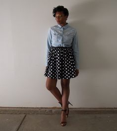 Turn an old dress into a vintage skirt! Check out the look on my blog Sweet and Lo.