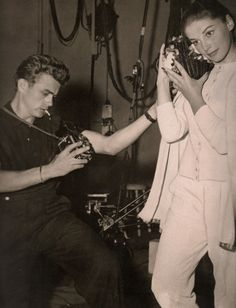 James Dean e sua namorada, Pier Angeli.