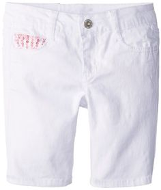 Save $11.01 on Almost Famous Girls 7-16 Twill Bermuda Short with Sequin Pockets; only $18.99