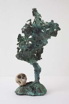 Erik Dietman, Bronzaï (crâne de singe), 1998