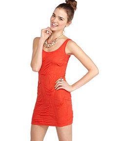 Material Girl Dress, Sleeveless Crinkled Tank - Juniors Dresses - Macy's
